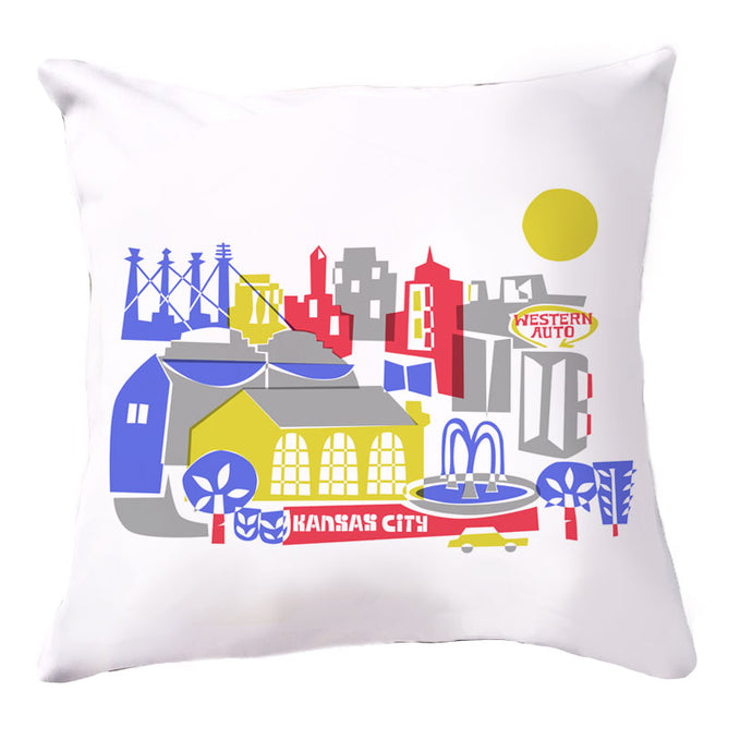 Kansas City skyline Pillow Cover-16x16