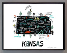 State of Kansas Wall Art