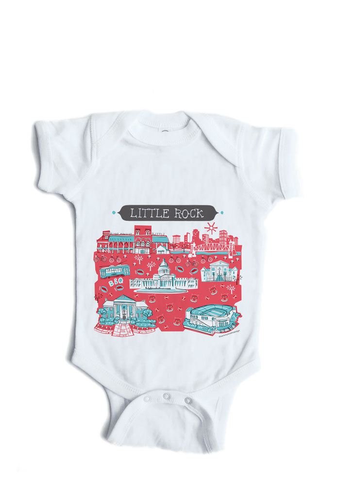 Little Rock AR Baby Onesie-Personalized Baby Gift