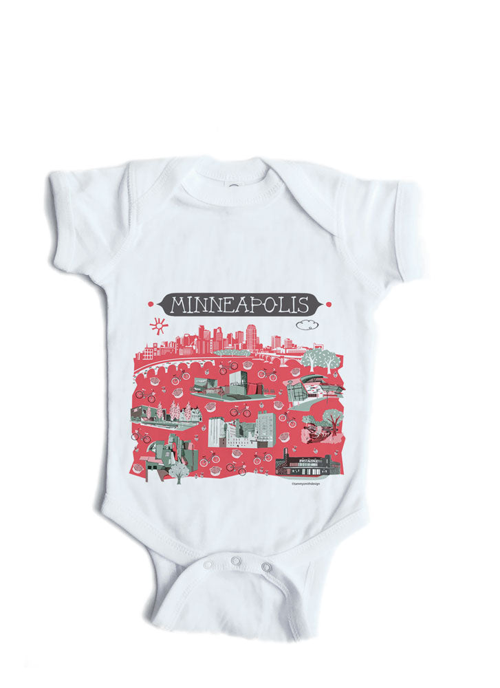 Minneapolis Baby Onesie-Personalized Baby Gift