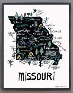 State of Missouri Wall Art