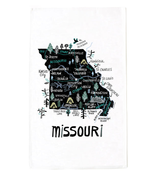 State of Missouri Tea Towel