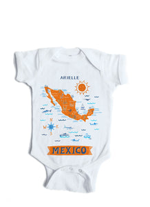 Mexico Baby Onesie-Personalized Baby Gift