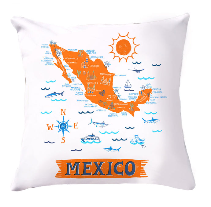 Mexico Pillow Cover-16 x 16