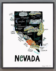 State of Nevada Wall Art
