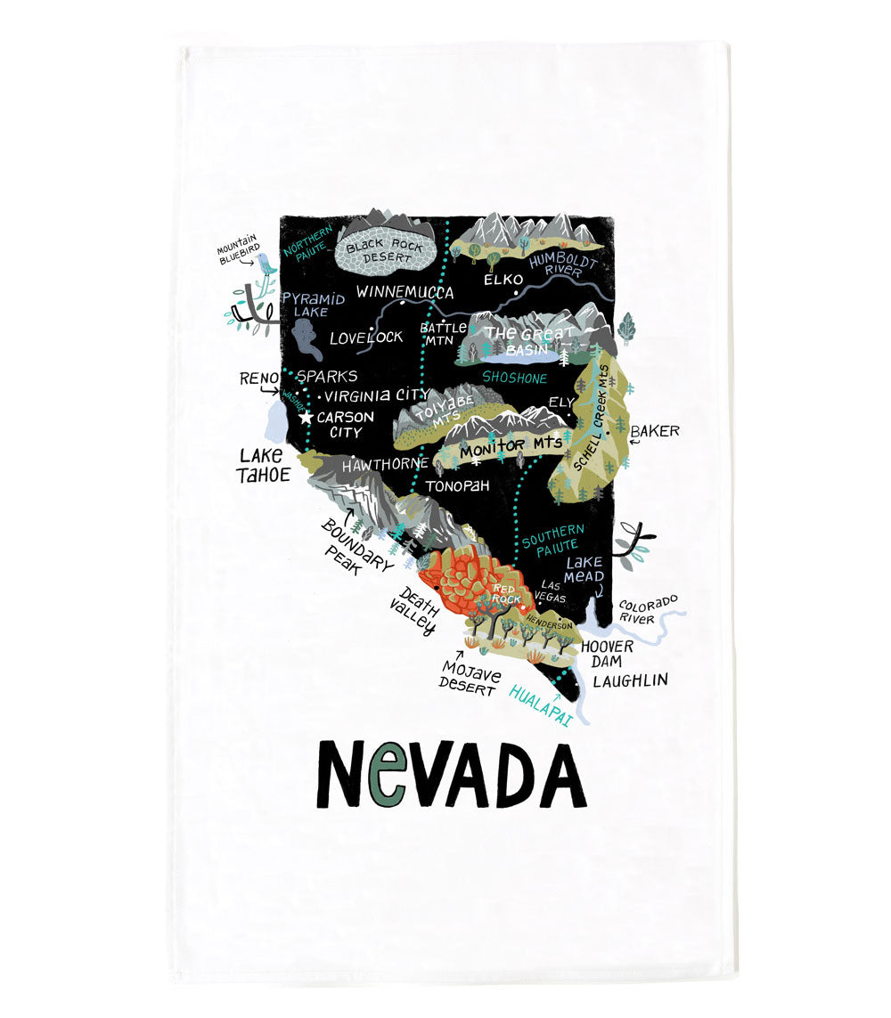 State of Nevada Tea Towel
