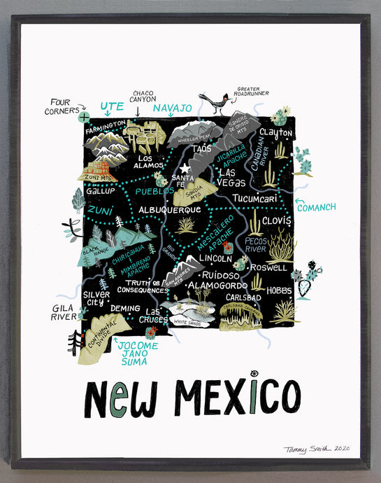 State of New Mexico Wall Art