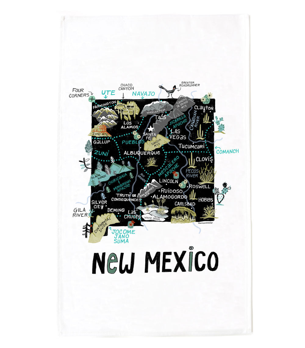 State of New Mexico Tea Towel