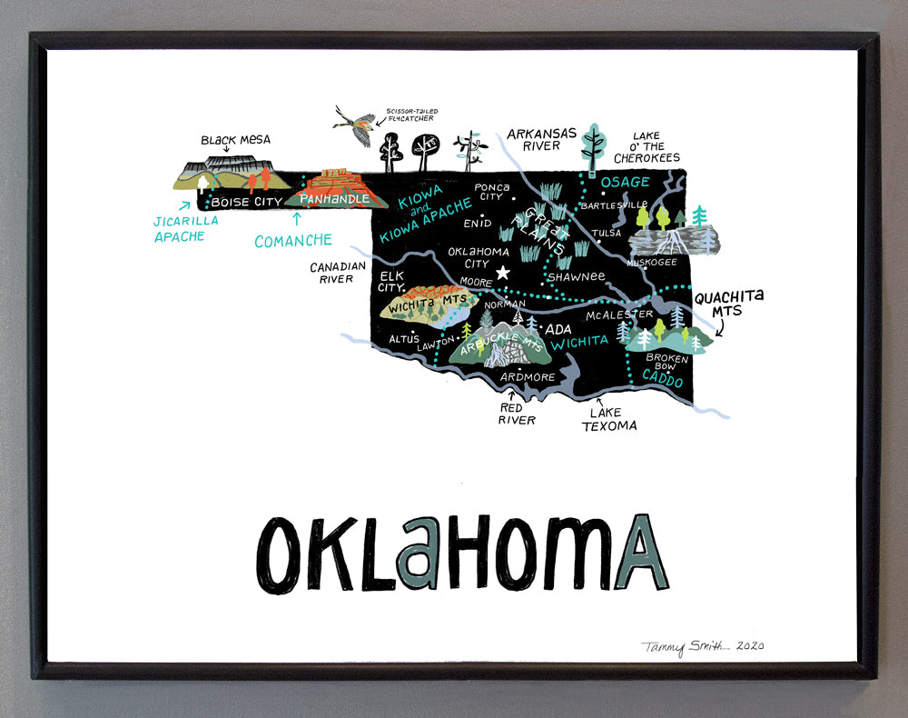 State of Oklahoma Wall Art
