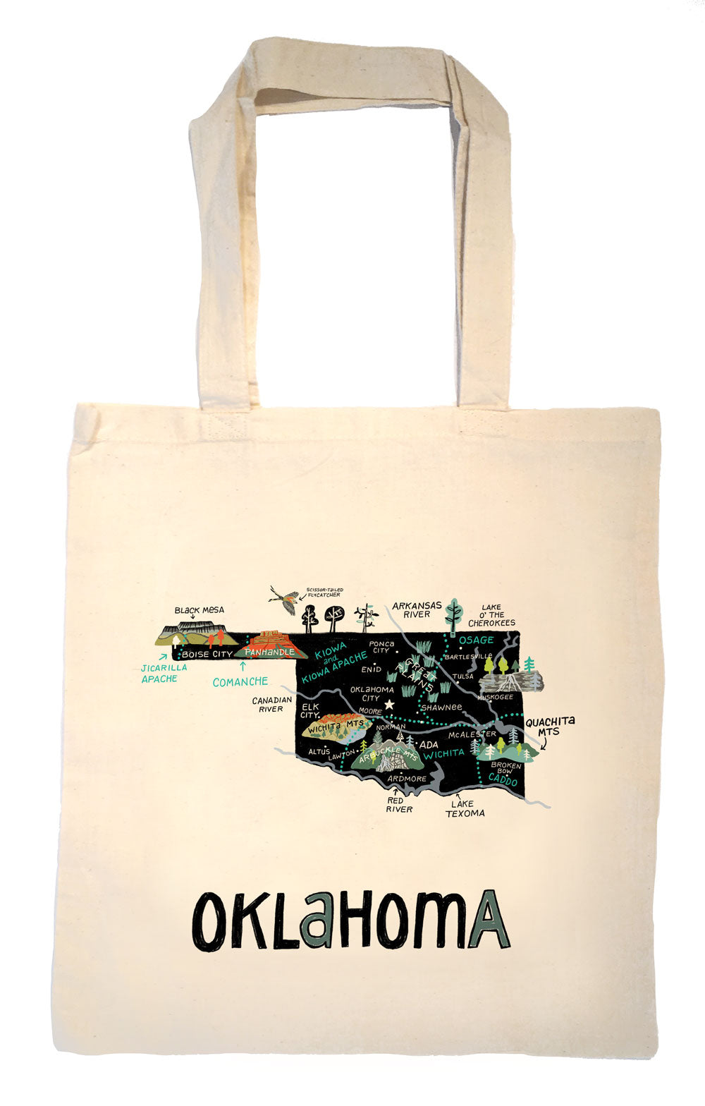 State of Oklahoma Tote Bag