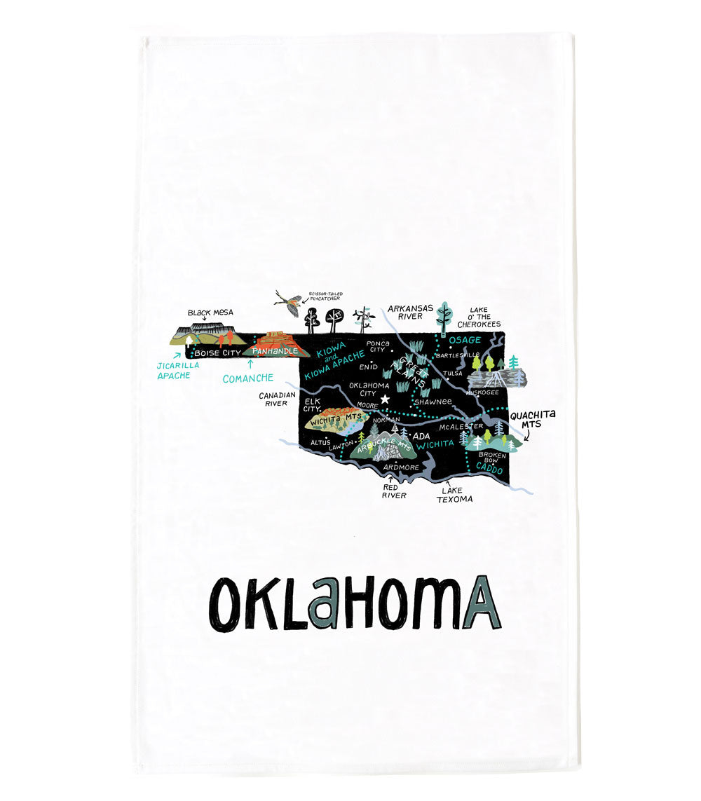 State of Oklahoma Tea Towel