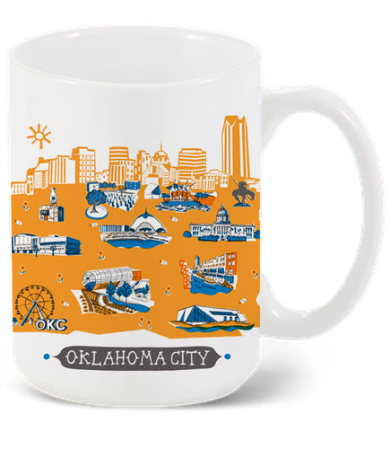 Oklahoma City Mug-Custom City Mug