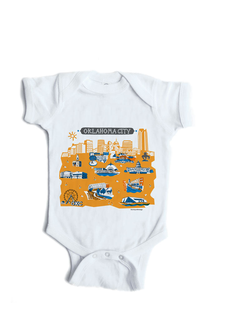Oklahoma City Baby Onesie-Personalized Baby Gift
