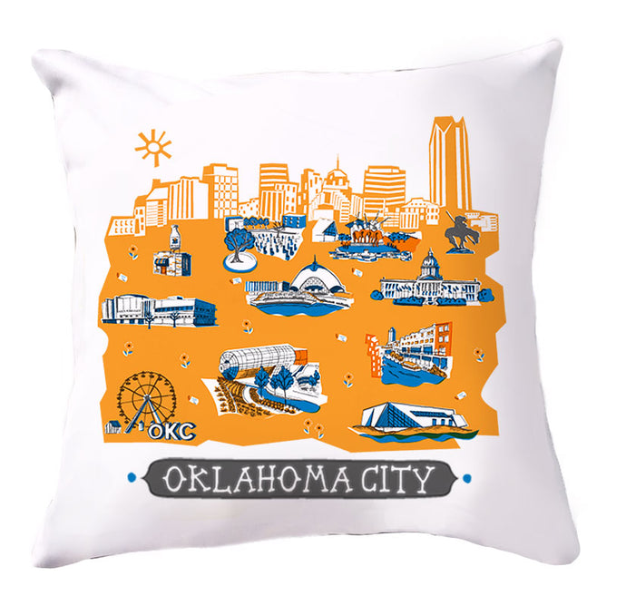 Oklahoma City Pillow Cover-16x16