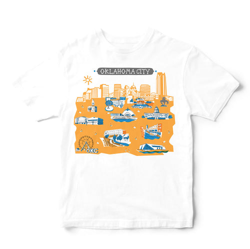 Oklahoma City T Shirt-Eco Friendly Print DTG