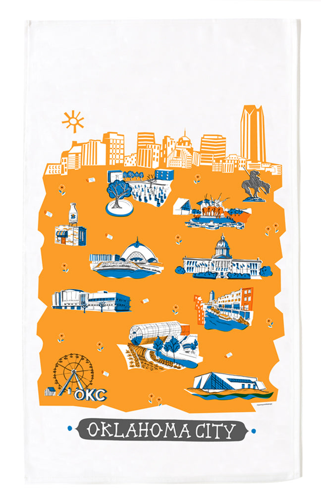 Oklahoma City Tea Towel