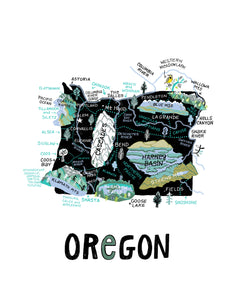 State of Oregon Wall Art