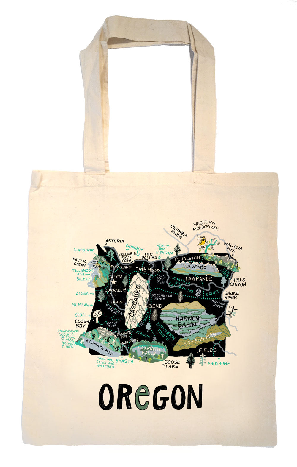 State of Oregon Tote Bag
