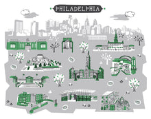Philadelphia Wall Art-Custom City Print