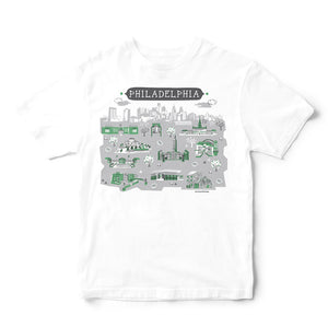 Philadelphia T Shirt-Eco Friendly Print DTG