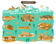 Phoenix Wall Art-Custom City Print