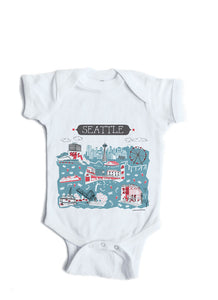 Seattle Baby Onesie-Personalized Baby Gift