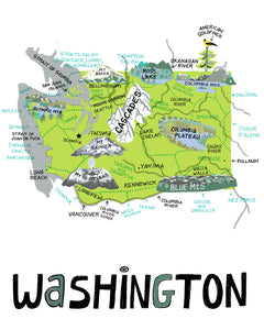 State of Washington Wall Art