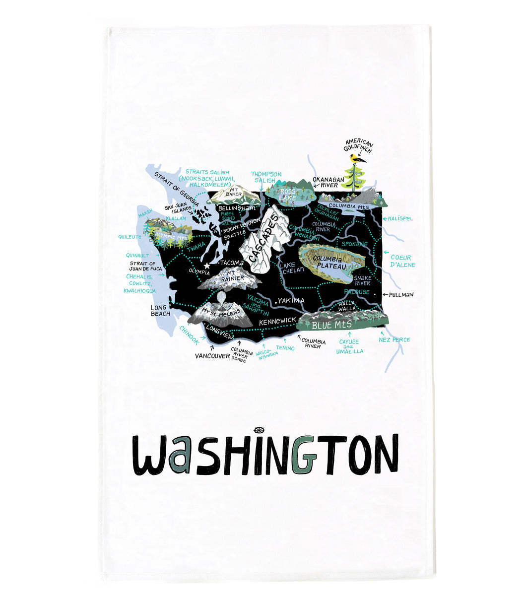 State of Washington Tea Towel
