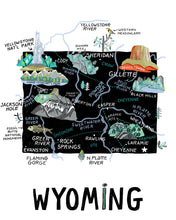 State of Wyoming Wall Art