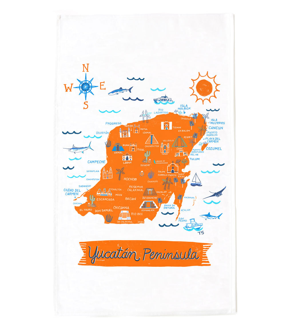 Yucatan Peninsula Tea Towel