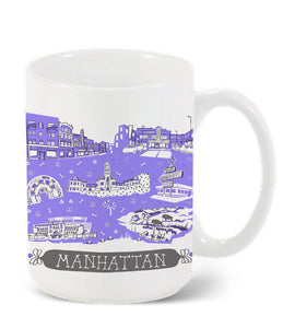 Manhattan KS Mug-Custom City Mug