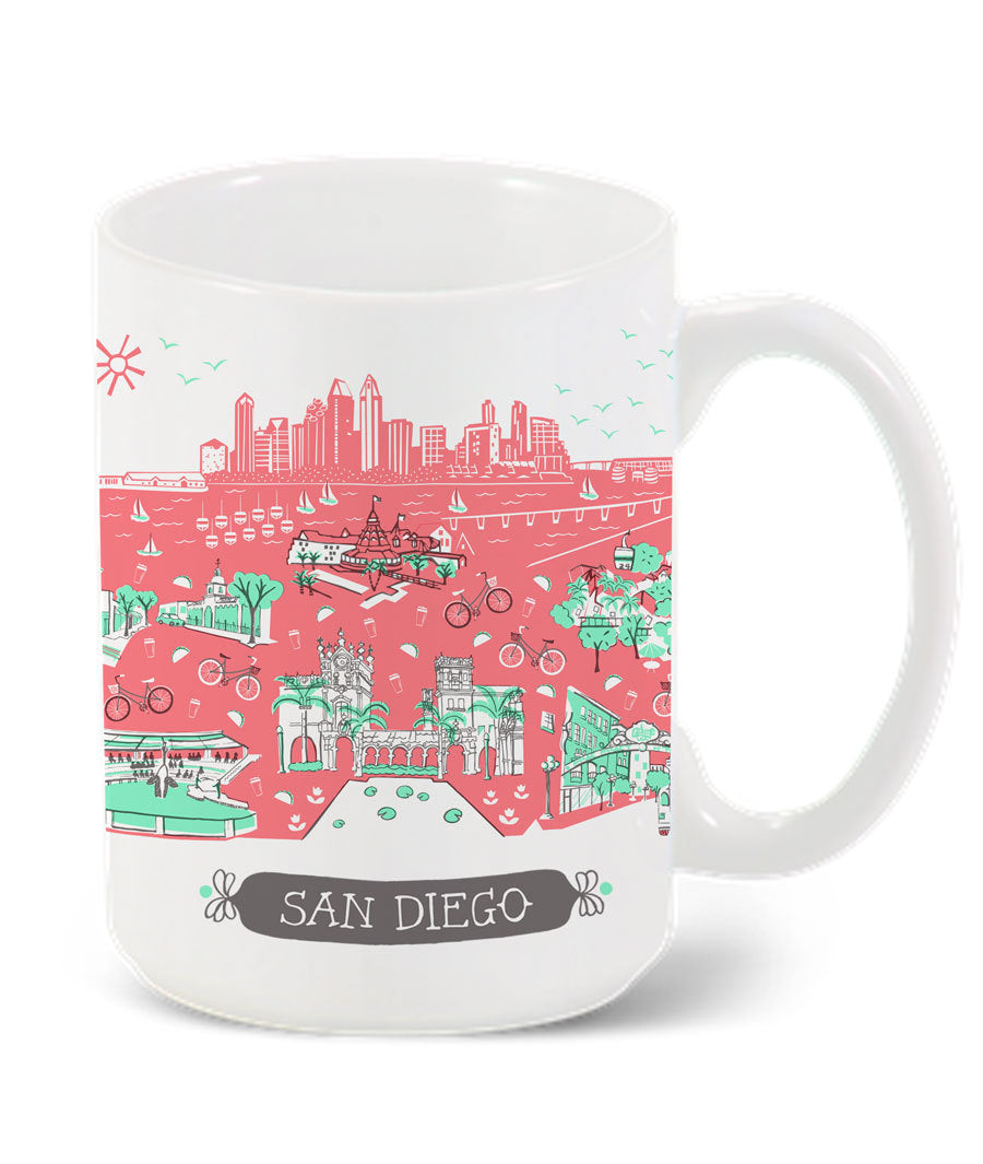 San Diego Mug-Custom City Mug
