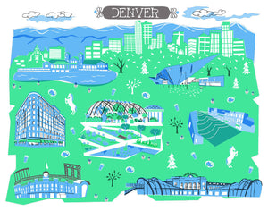Denver Wall Art-Custom City Print
