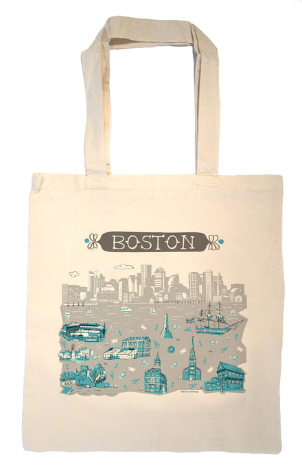 Boston Tote Bag-City Tote-Wedding Welcome Tote
