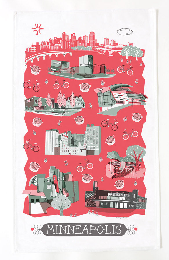 Minneapolis Tea Towel