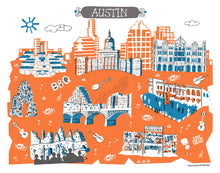 Austin Wall Art-Custom City Print