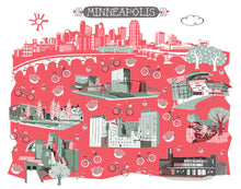 Minneapolis Wall Art-Custom City Print