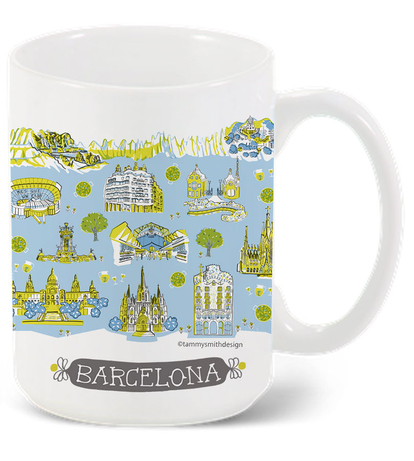 Barcelona Mug-Custom City Mug