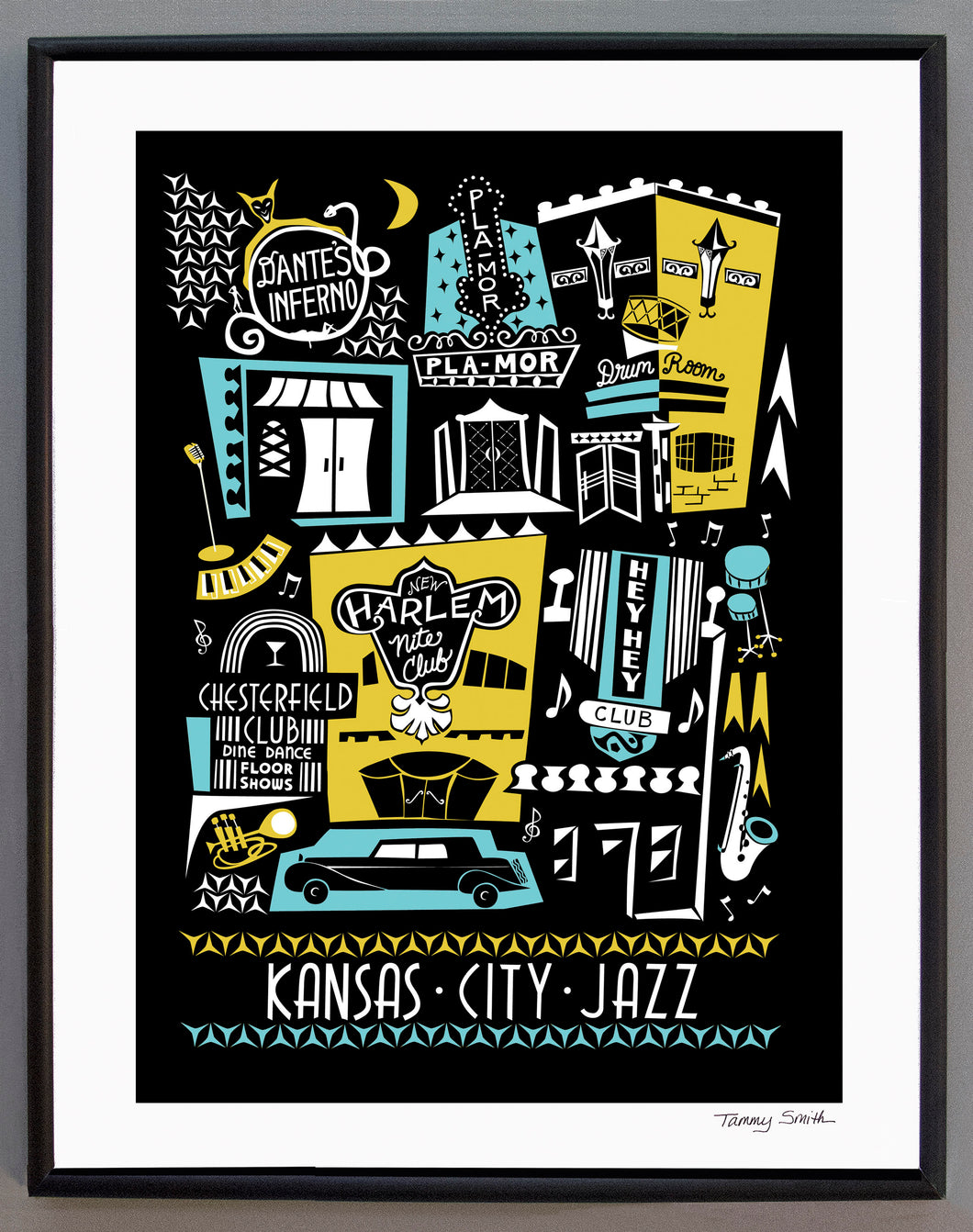 Kansas City Jazz Club 18th and Vine Art Print