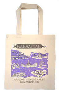 Manhattan KS Tote Bag-Wedding Welcome Tote