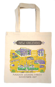 New Orleans Tote Bag-Wedding Welcome Tote