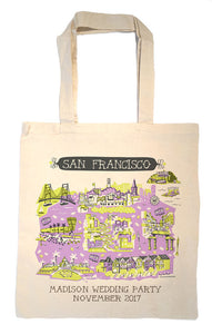 San Francisco Tote Bag-Wedding Welcome Tote