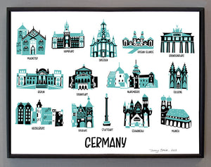 Landmark Map Print-Germany
