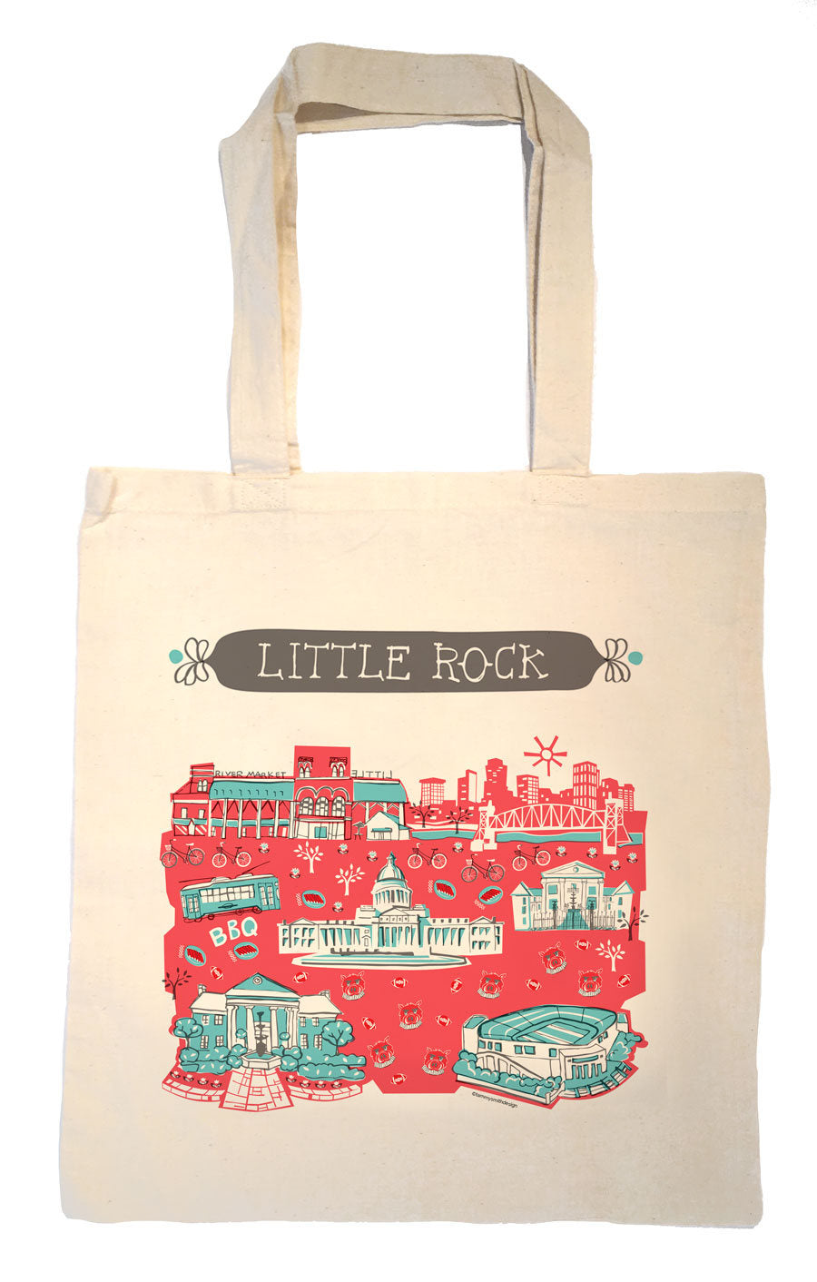 Little Rock Tote Bag-Wedding Welcome Tote