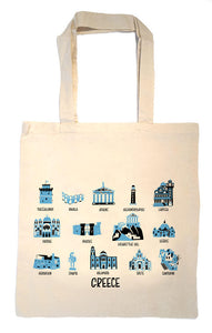 Greece Tote Bag-Wedding Welcome Tote