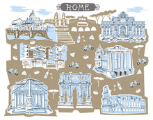 Rome Italy Wall Art-Custom City Print