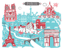 Paris France Wall Art-Custom City Illustration