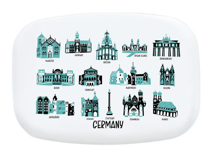 Germany Landmark Melamine Platter