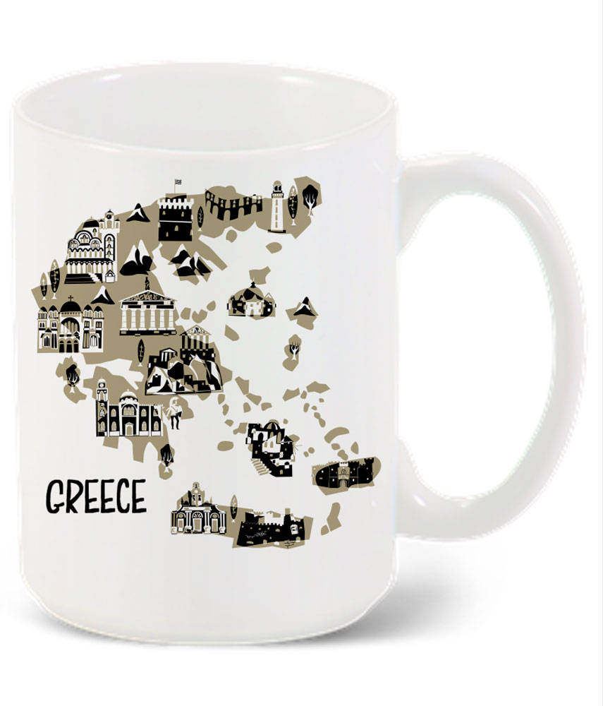 Greece Mug-Custom Country Mug