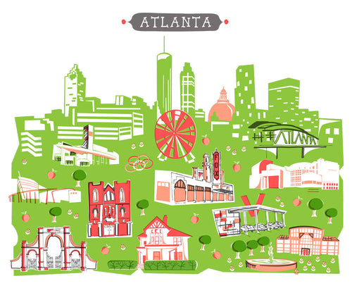 Atlanta Georgia Wall Art-Custom City Print